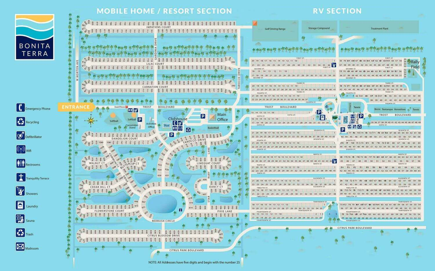 Bonita Terra RV and Manufactured Homes Map